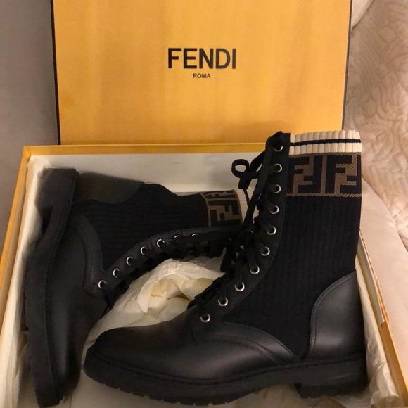 12e5f504cfc Fendi Rockoko Combat Boots